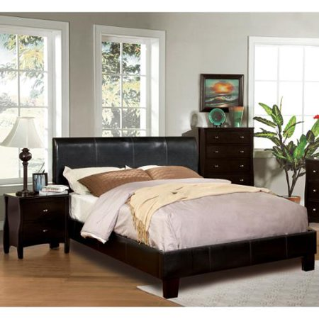 furniture of america villazo espresso 3 piece bedroom set