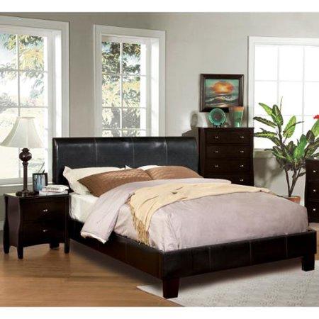 Furniture of America Villazo Espresso 3-piece Bedroom Set Queen