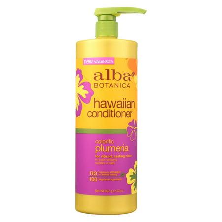 Alba Botanica - Hawaiian Hair Conditioner - Colorific Plumeria - 32 Oz Alba Hawaiian Hair Conditioner