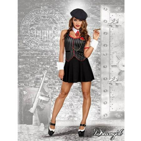 Women's Bad-acious Gangster Costume