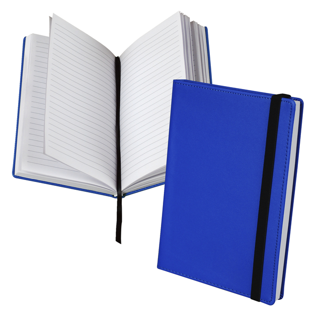 Classic Hardbound Notebook Journal, 5-1/4 x 8-1/4 Inches, Blue, 120 Sheets