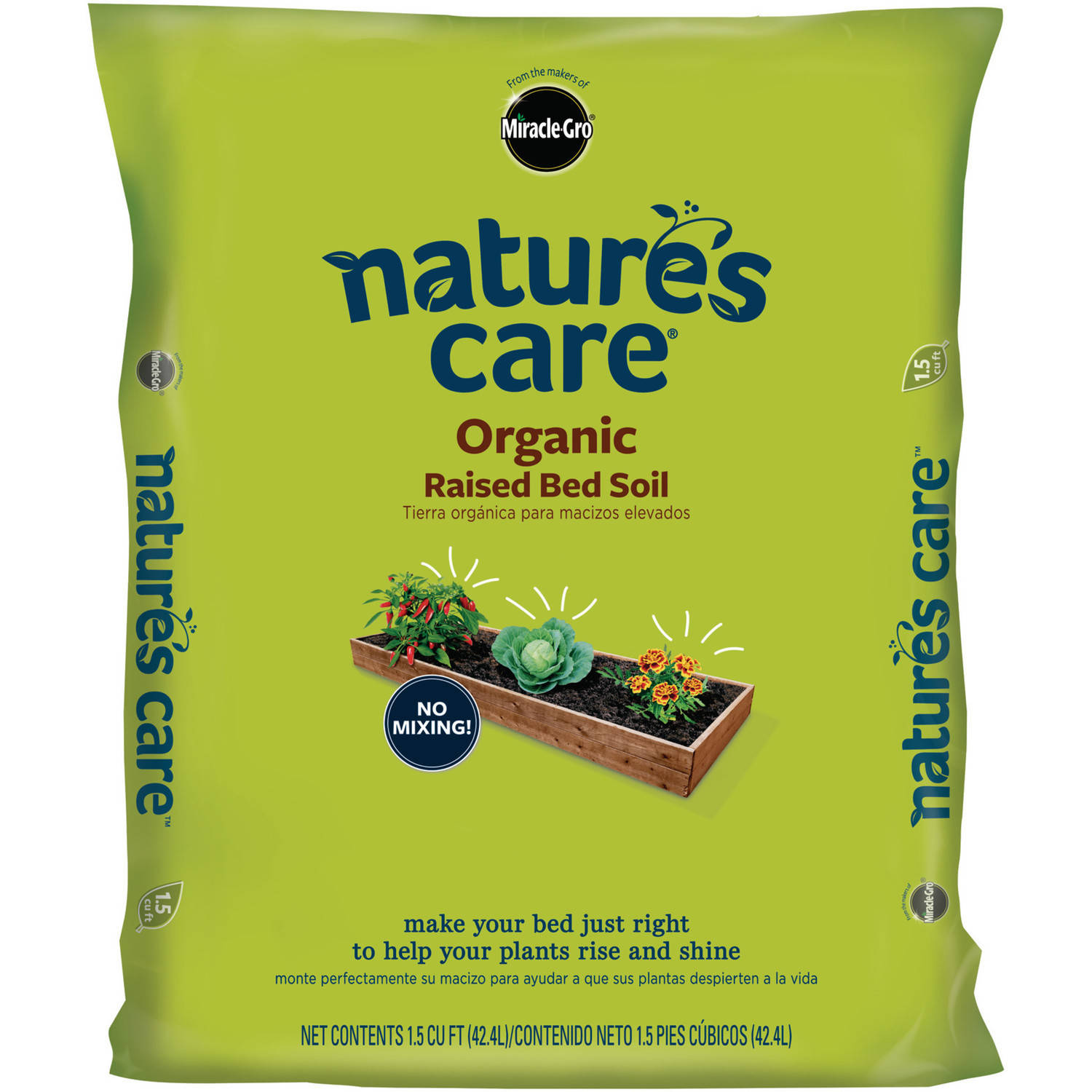 Miracle-Gro Nature's Care Organic Raised Bed Soil