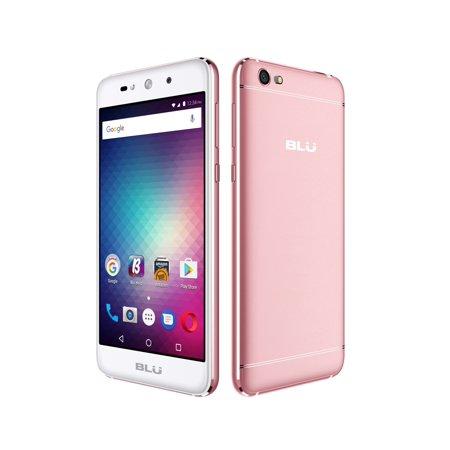 Blu Grand Max G110q Unlockes Gsm Quad Core Phone W  Dual 8Mp Front   Back Camera   Rose Gold