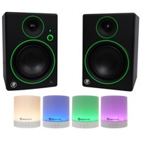 "2) Mackie CR5BT 5"" Studio Monitors/Computer Speakers w/ Bluetooth+Free Speaker !"