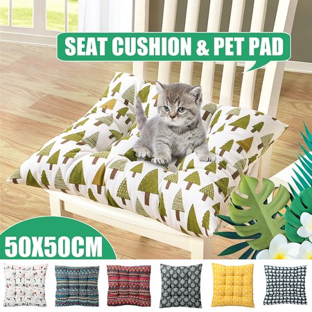 Multi-style Soft Comfort Sit Mat Indoor Outdoor Chair Seat Pads Cushion Pads For Garden Patio Home Kitchen Office Park 20x20x3 inch,With Strap design ()