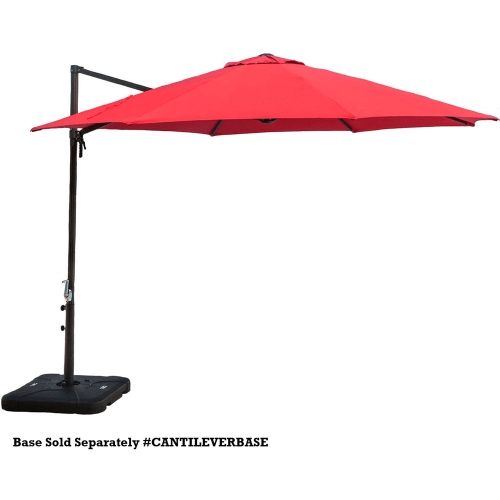 Hanover CANTILEVER Cantilever 11 Foot Tall Aluminum Framed Outdoor Umbrella by Hanover Outdoor