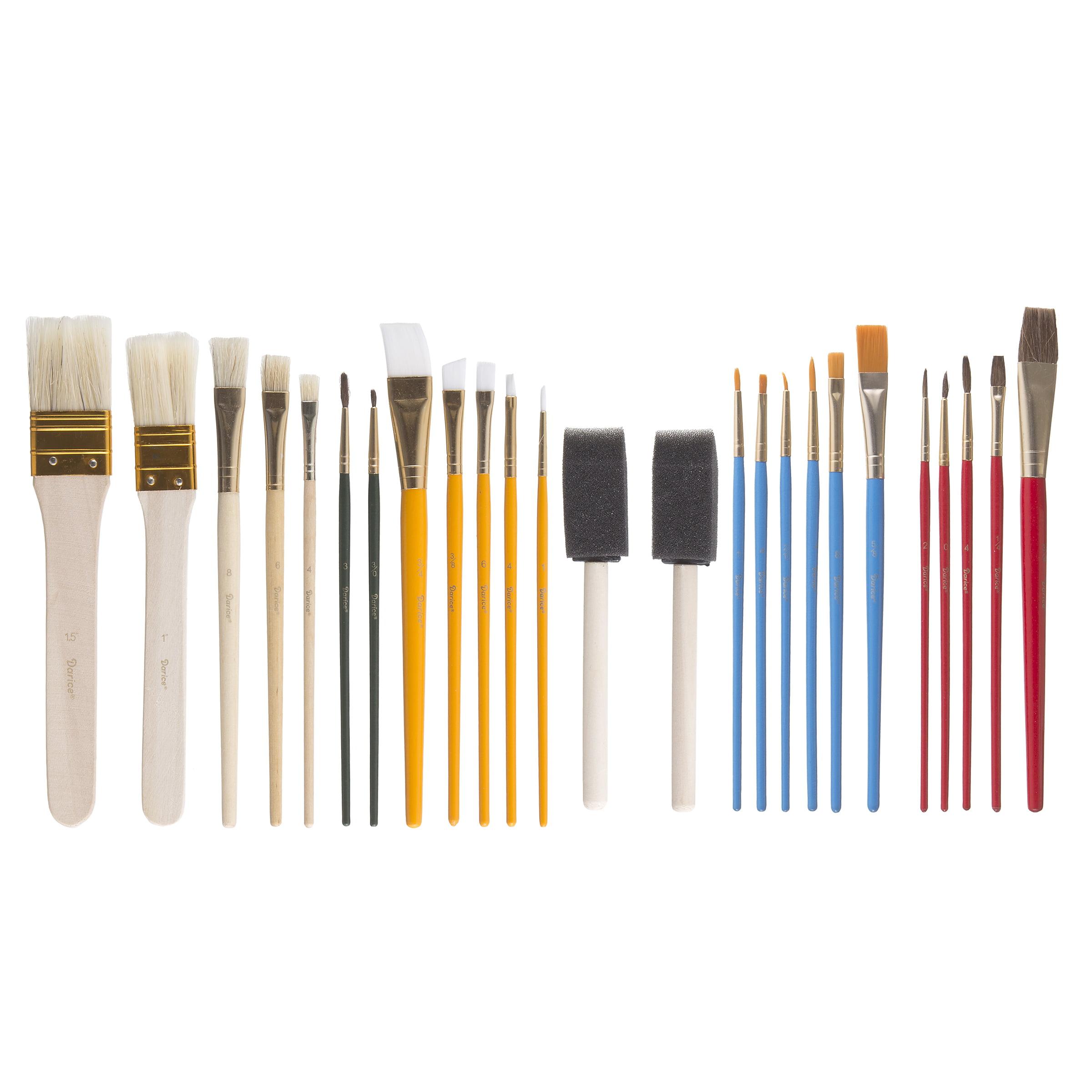 Paintbrush Set: Assorted, 25 pack