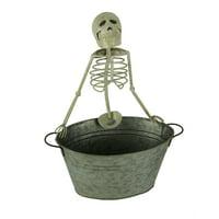 Metal Skeleton Beverage Tub Halloween Drink Cooler Bucket