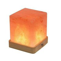 Discolor Salt Lamp Remote Control USB Charge Press Switch Cube Shape Perfect for Holiday Gift Christmas Gift