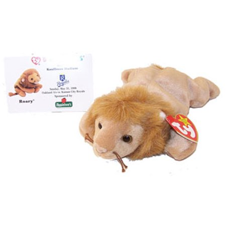 57bda37d5fc TY Beanie Baby - ROARY the Lion (w  Commemorative Event Card - 5 31 98) -  Walmart.com