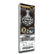 2011 NHL Stanley Cup Final Commemorative Canvas Mega Ticket - Boston Bruins