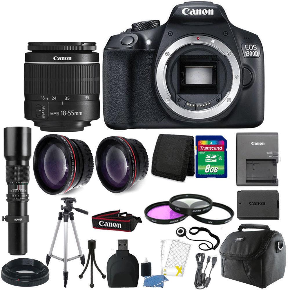 Canon EOS Rebel 1300D/T6 18MP DSLR Camera + 18-55mm Lens ...