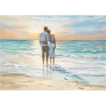 Tangletown Fine Art Seaside Sunset by Karen Wallis Poster Frame - 17 ...