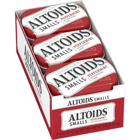 Altoids Smalls Peppermint Sugarfree Mints, 0.37 ounce (9 (Free Mint)