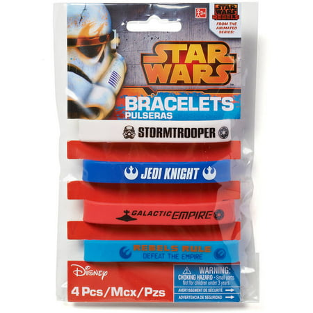 Star Wars Rebels Rubber Bracelets, 4 Count, Party Supplies