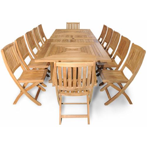 Regal Teak Sanibel Grand Teak 13 Piece Dining Room Set by Regal Teak
