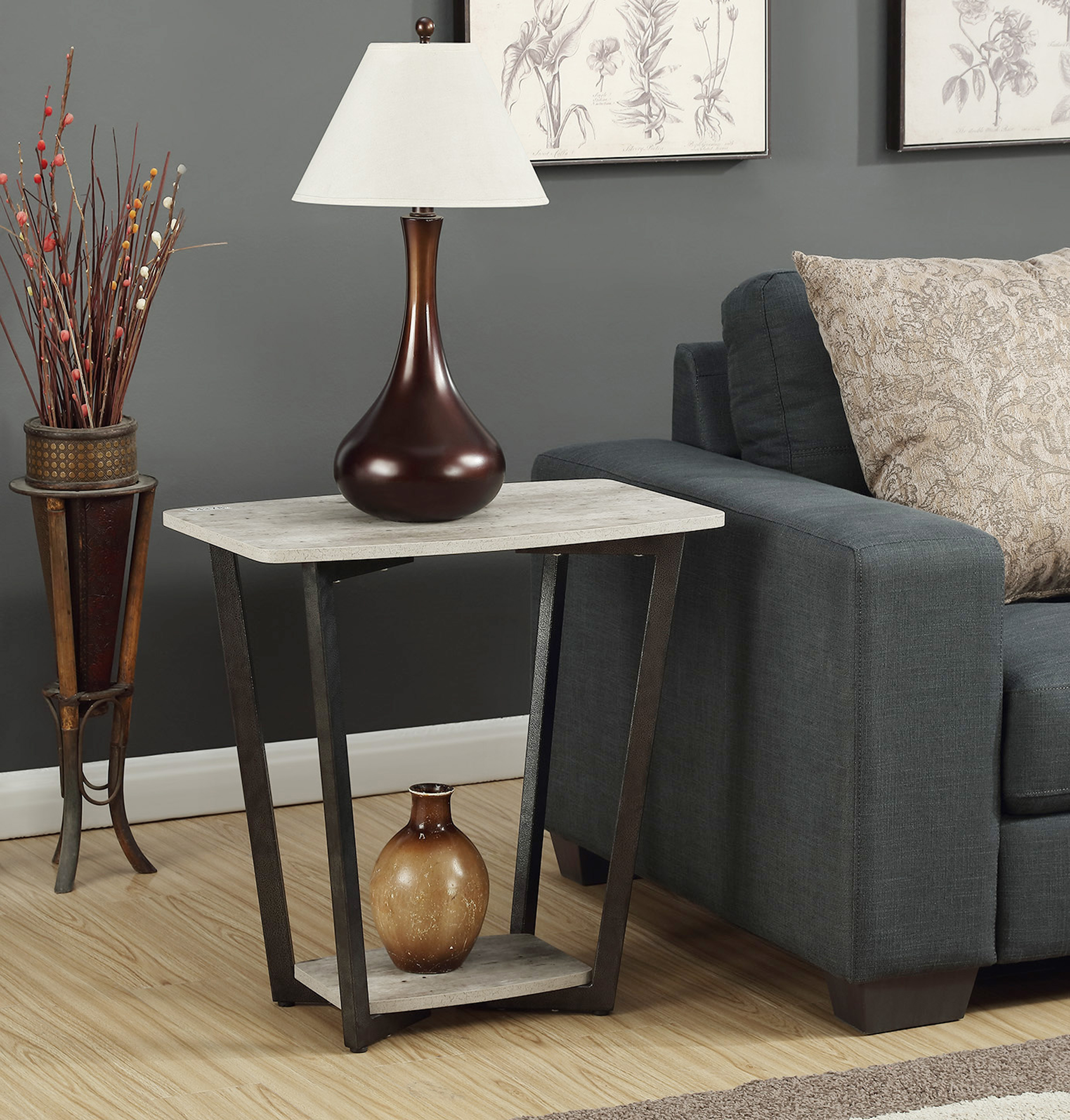 Convenience Concepts Graystone End Table