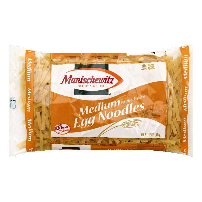 Manischewitz Medium Egg Noodles, 12 oz, - Pack of 12