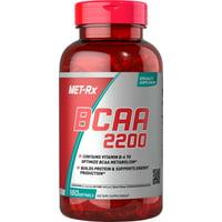 MET-Rx BCAA 2200 Supplement, Unflavored, 180 Softgels
