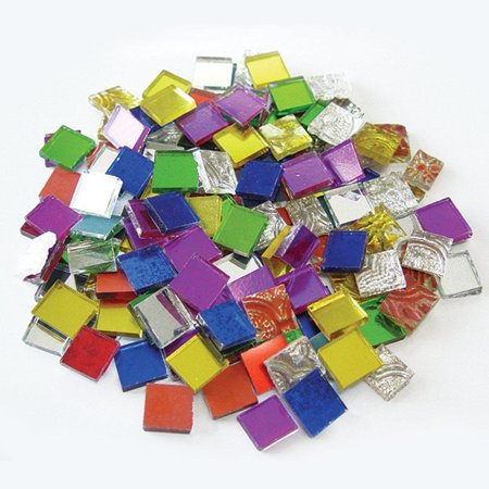 Jennifer's Mosaics 8-Ounce Variety Mosaic Mirror Tile, Assorted Colors