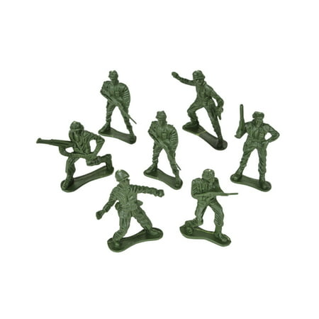 "144 Assorted 2"" Green Army Men Soldiers Halloween Trick or Treat Toys"