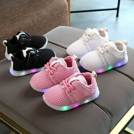 7f96649c Toddler Kids Baby Boys Girls Light Up Soft Sole Sport Running LED Shoes  Sneakers