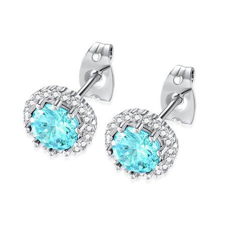 Women Fashion Simple Colorful Ear Studs Elegant Exquisite Earrings