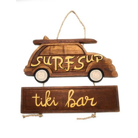 Surf's Up, Tiki Bar Woody Car Sign 15