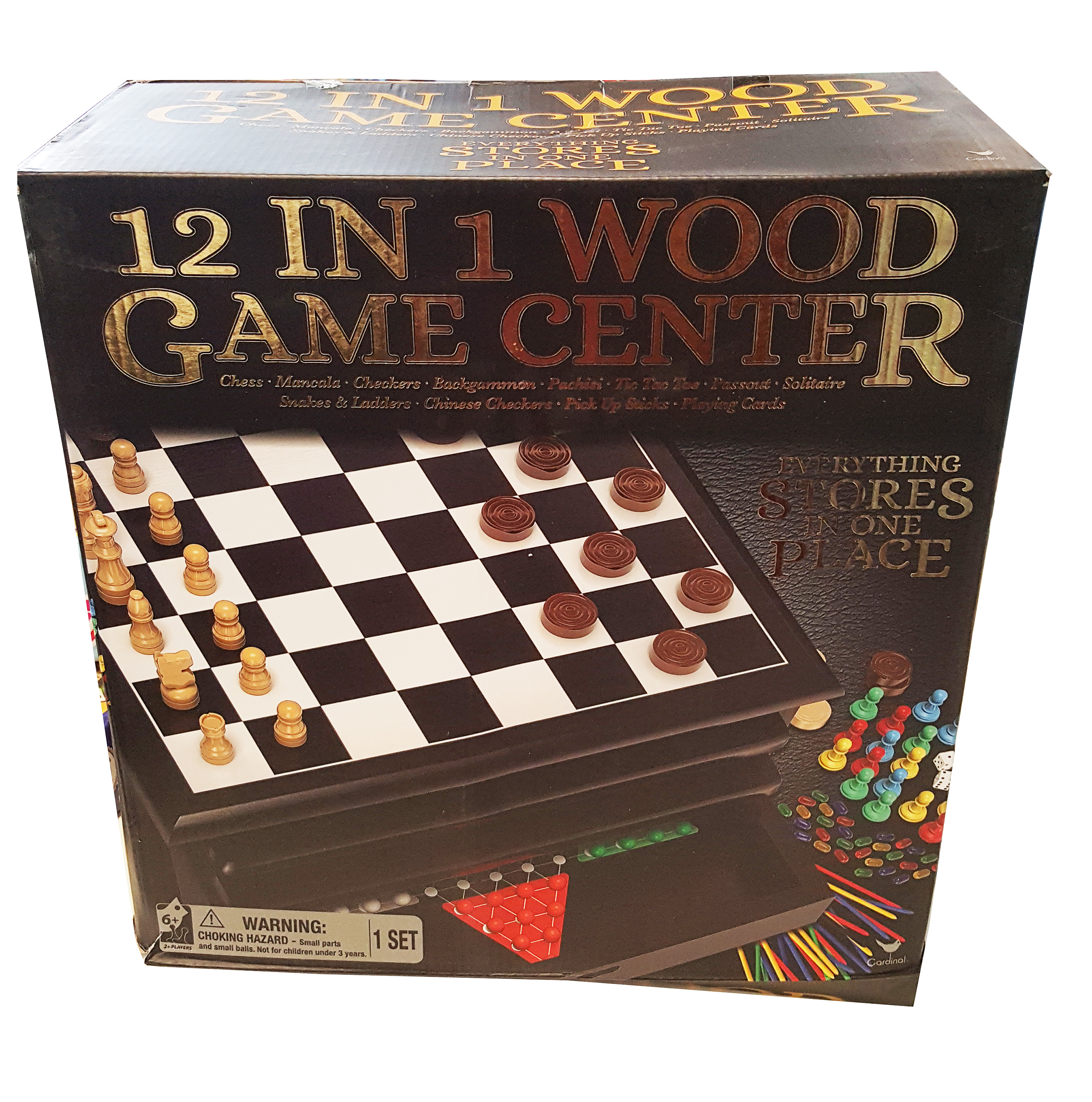 12 In 1 Wood Game House