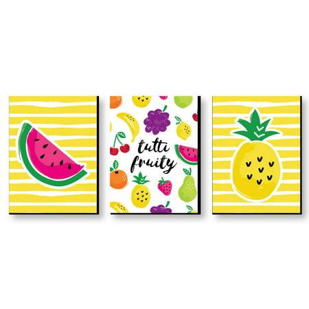 Tutti Fruity Nursery Wall Art Kids Room Decor Frutti Summer Home Decorations 7 5 X 10 Set Of 3 Prints