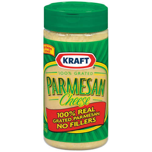 Kraft 100% Real Parmesan Grated Cheese, 8 oz