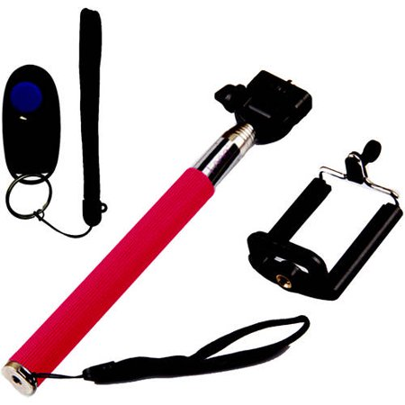 Looq Selfie Clicker Selfie Stick for Apple; Android phones, Assorted Colors