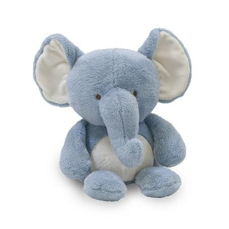 Lambs & Ivy Signature Elephant Tales Plush Elephant - Cruiser  -  Blue, White,