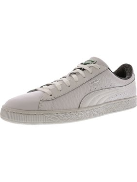 fc5a95ed8fb4 Product Image Puma Men s Basket Classic Textured White Ankle-High Leather Fashion  Sneaker - 10.5M