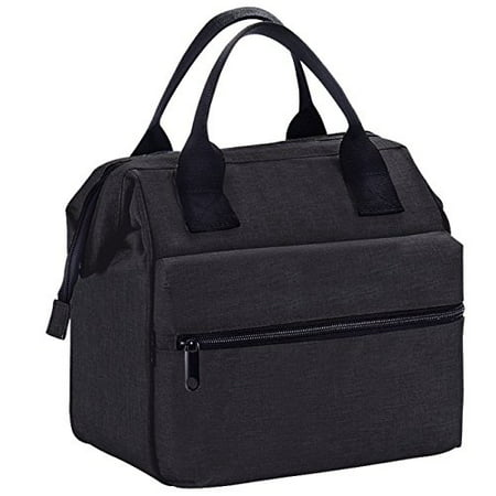 Earthwise Insulated Lunch Bag Box Cooler for Men & Women Heavy Duty Oxford Nylon in all Black](Lunch Lady Snl)