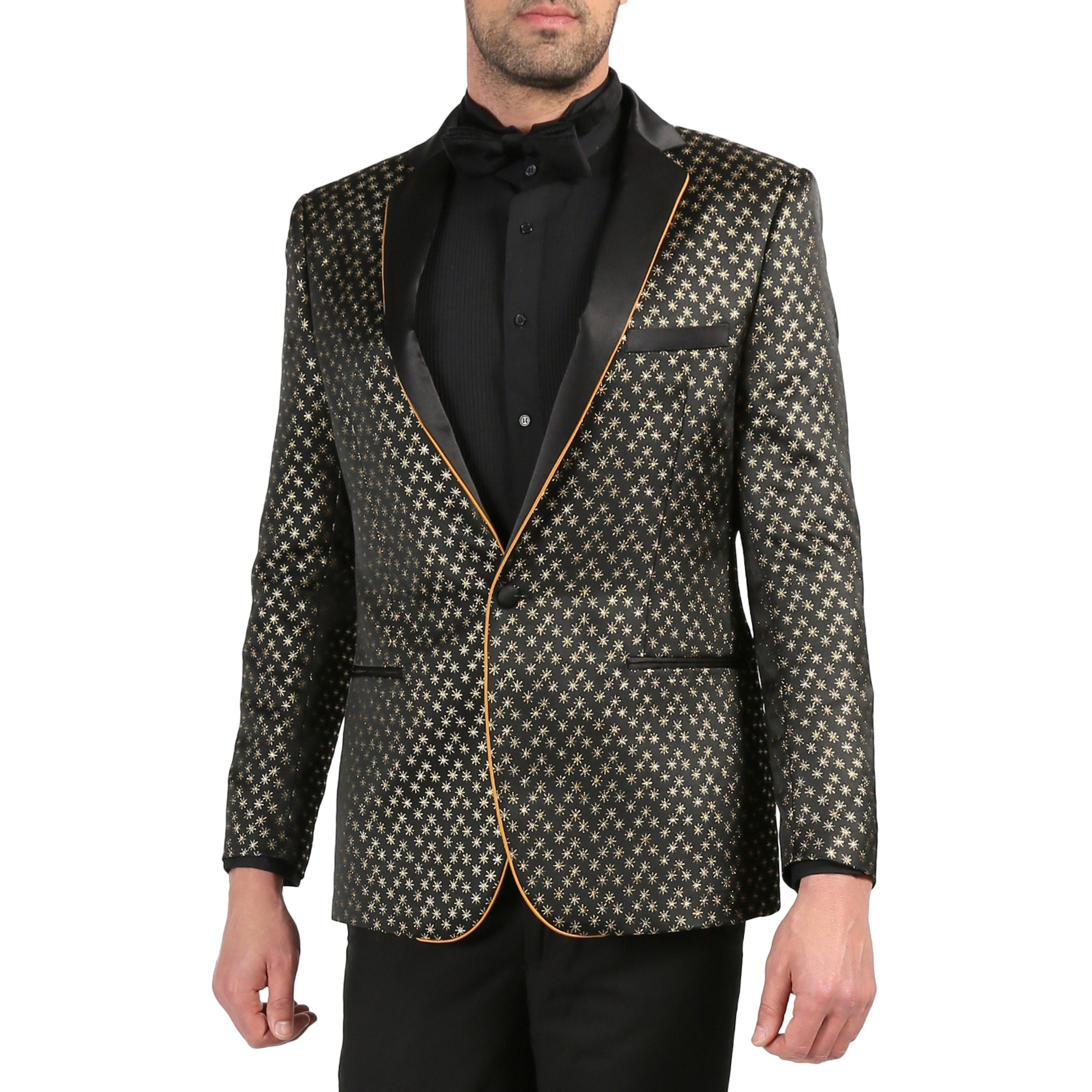 Ferrecci Mens Premium Satine Polka Dot Evening Formal Wear Scarf