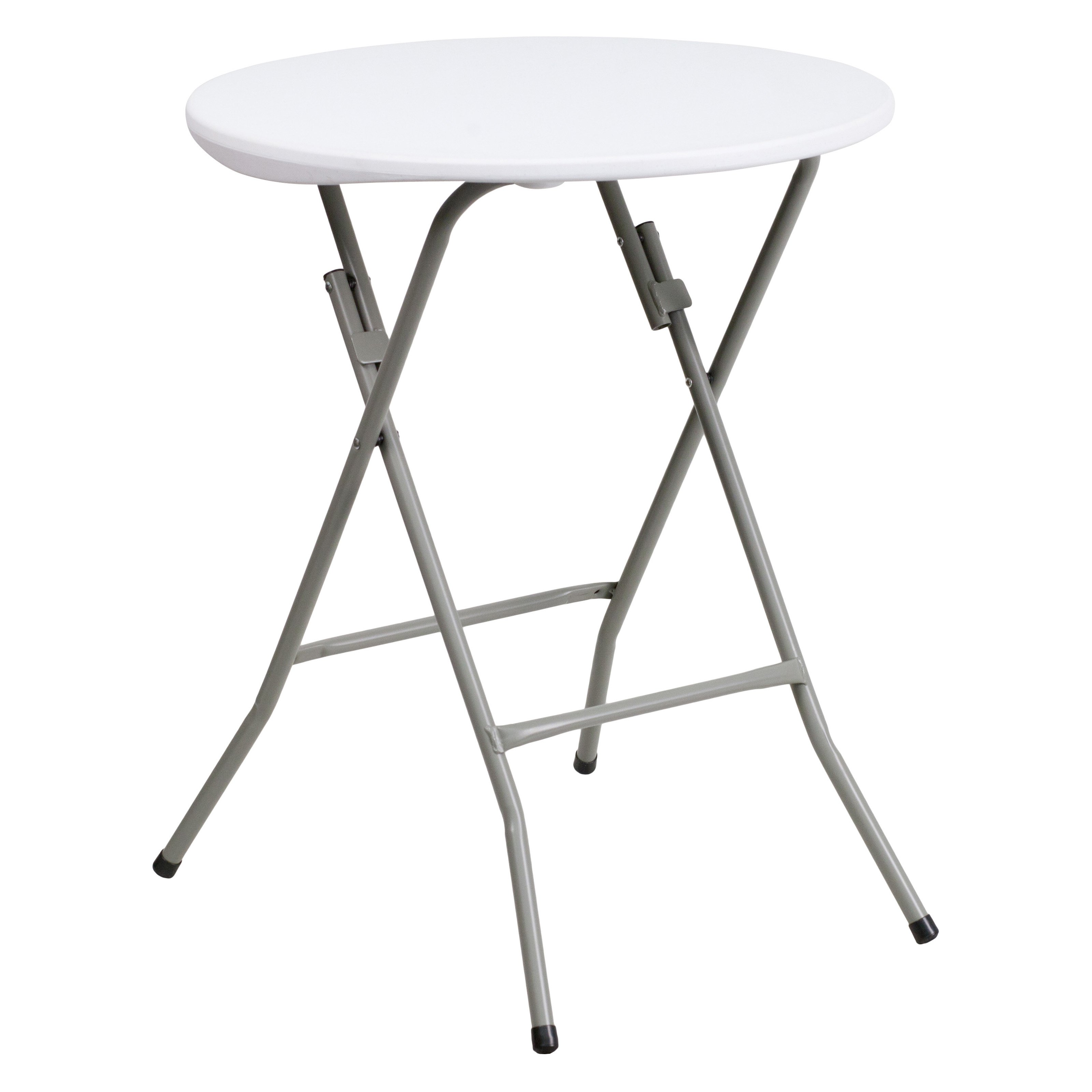 Flash Furniture 24'' Round Granite White Plastic Folding Table by Flash Furniture