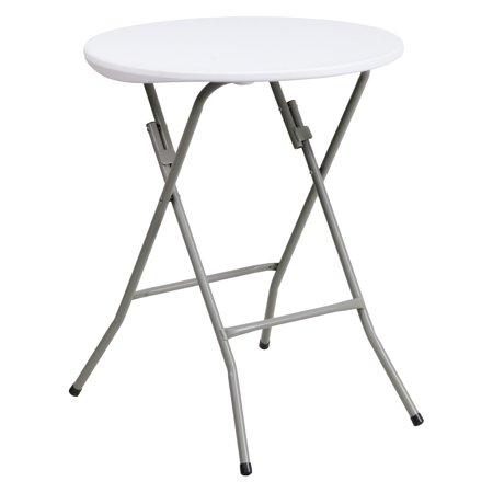 Flash Furniture 24 Round Granite White Plastic Folding Table
