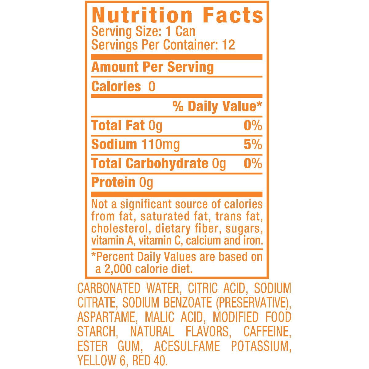Diet Sunkist Orange Soda, 12 Fl Oz Cans