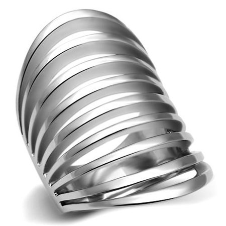 High Polished Fashion (Women's Stainless Steel 316 High Polished 33Mm Wide Fashion Ring Size 6)