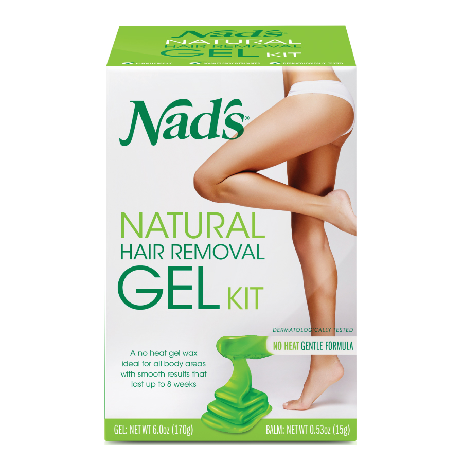 Nad's Natural Hair Removal Gel Wax Kit, 6 Oz