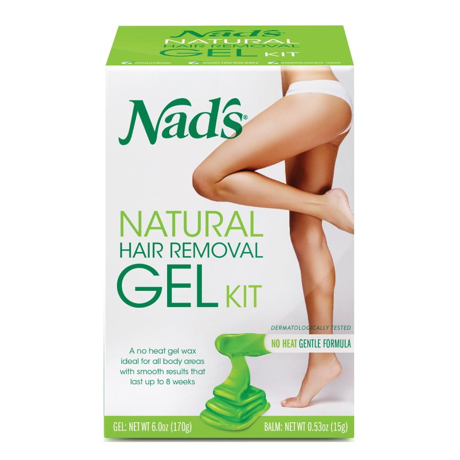 Nad's Natural Hair Removal Gel Wax Kit, 6 Oz