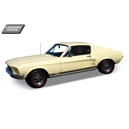 1967 Ford Mustang GT Cream 1:24 Diecast Model Car, 1967 Ford Mustang GT Cream 1:24 Diecast Model Car By (2015 Mustang Gt Track Pack For Sale)