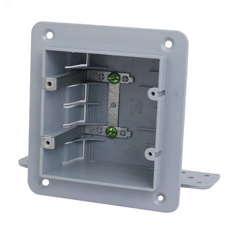 140mmx165mmx70mm 2 Gang Electrical Junction Outlet Box Surface Mount Backbox