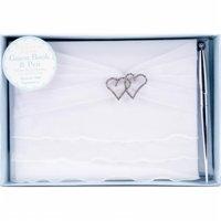 Wedding Guest Book W/Pen 6''X9''-White