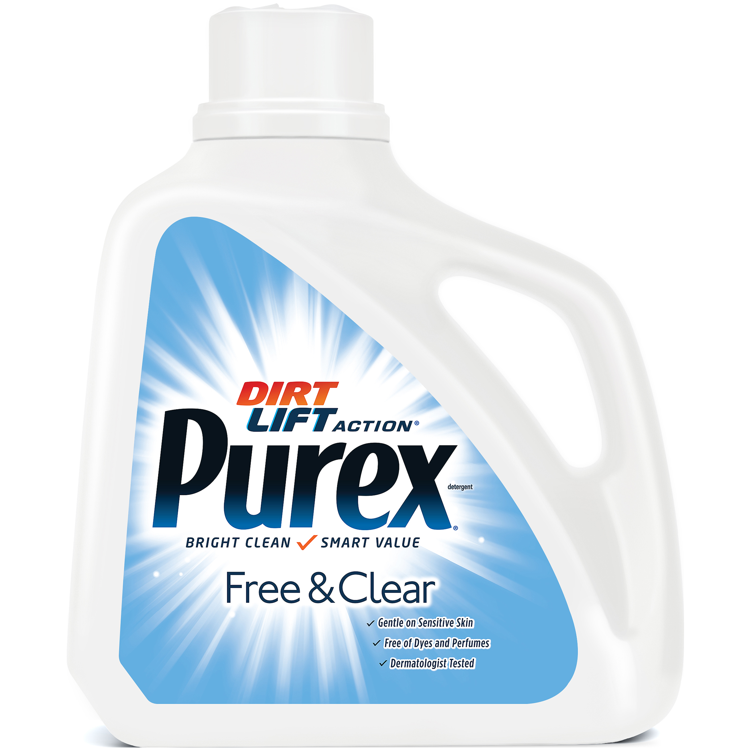 Purex Liquid Laundry Detergent, Free & Clear, 150 Fluid Ounces, 100 Loads