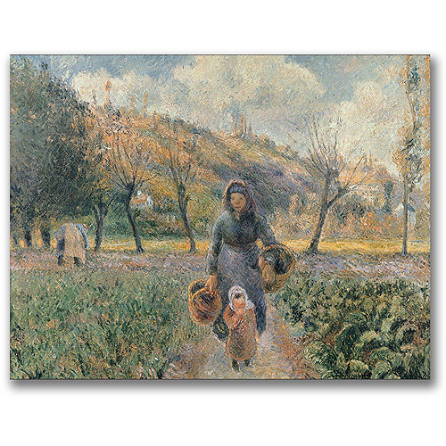 "Trademark Fine Art ""In The Garden"" Canvas Wall Art by Camille Pissaro"
