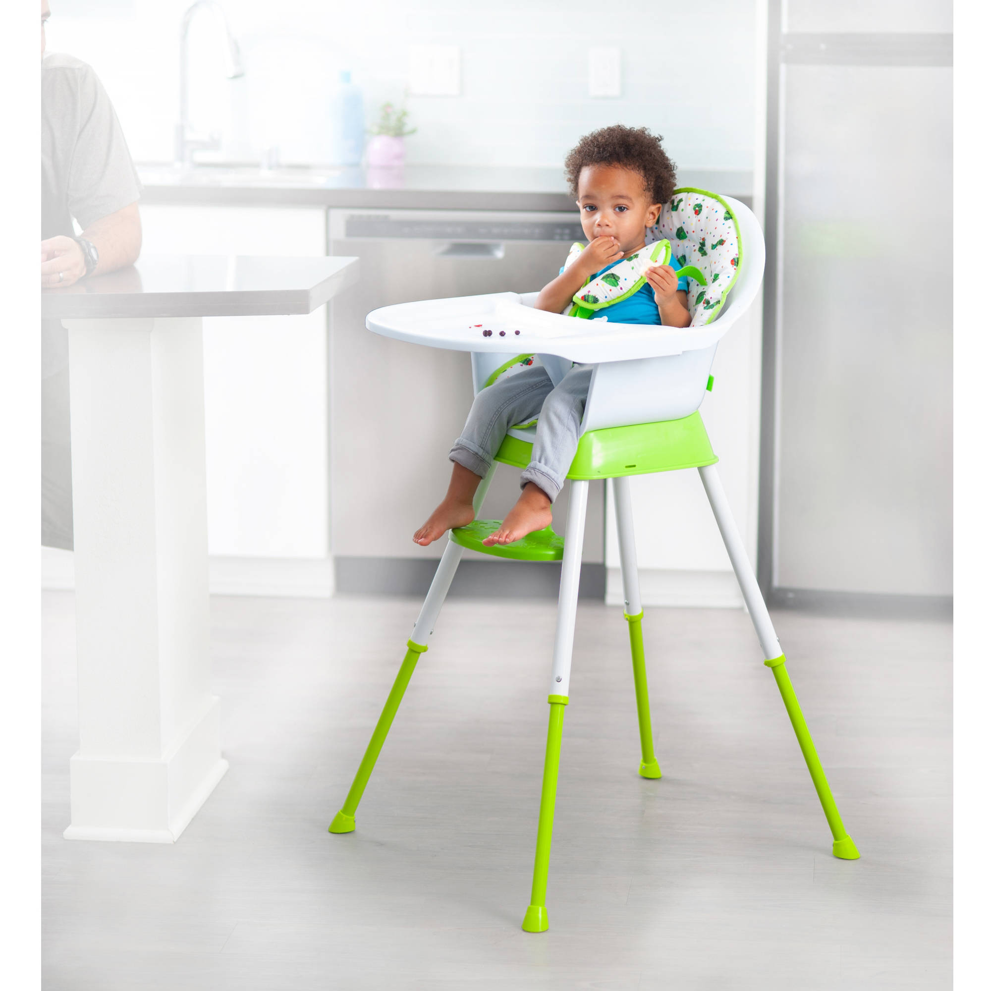 The Very Hungry Caterpillar Happy and Hungry 3 in 1 High Chair, Leaves