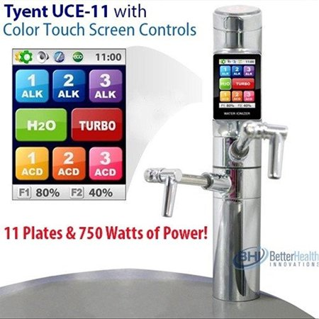 tyent uce-11 under counter water ionizer - next generation - healthy anti-oxidant ionized water - ph range from 2ph - 12ph* - 11 plates - 750 watts of power - alkaline water generator - turbo mode - t