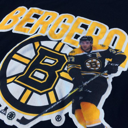 Boston Bruins Patrice Bergeron NHL Action Pop Applique T-Shirt - Levelwear - image 1 of 2